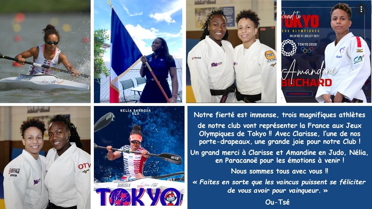 Jeux Olympiques de Tokyo, Red Star Club de Champigny, Clarisse, Amandine, Nélia